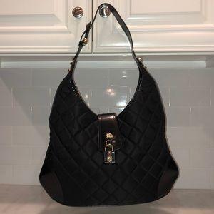 Burberry Brooke Quilted Nylon Hobo Shoulder Bag